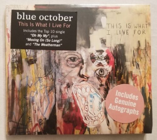 Blue October Autographed This Is What I Live For CD