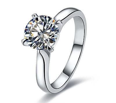 Top Brand Style 1CT Solitare Diamond Ring For Women Wedding Girl Love Best