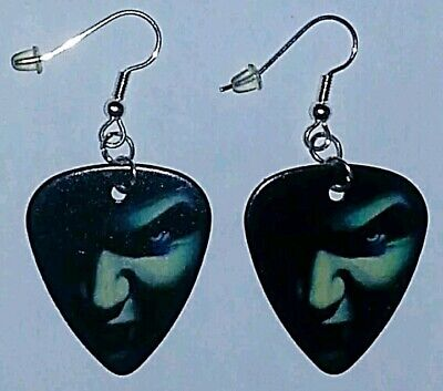 Masquerade Vampire Guitar Pick Earrings Silver Plated Dangle Jewelry](Female Vampire Mask)