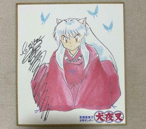 Inuyasha Mini Autographs Picture Sikishi by Rumiko Takahashi Not for sale japan