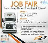 Job Fair for Class 1 Drivers and Owner Operators