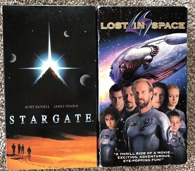 Lost In Space & Stargaze Lot Of 2 VHS Movies Tapes