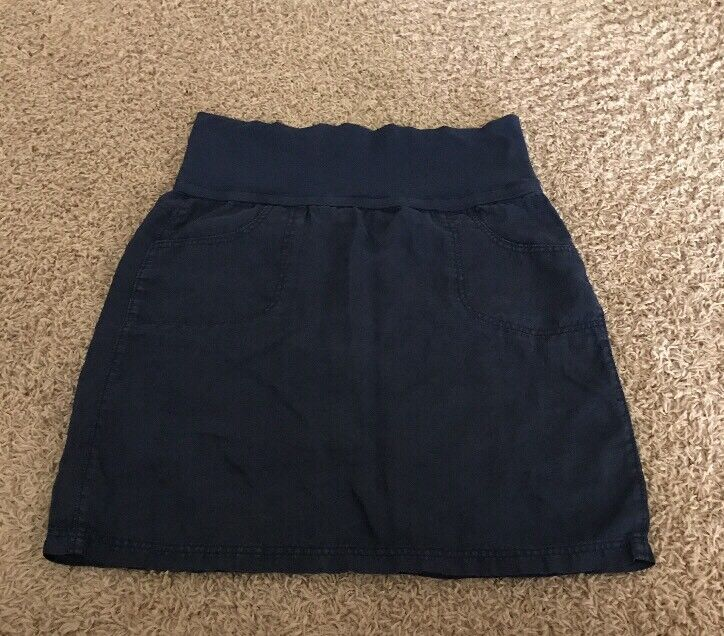 Athleta Maternity Navy Blue Cotton Skirt Size 12
