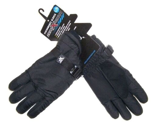ZeroXposur Boys Performance Gloves NWT Black Water Resistance Size  L/XL  12-16