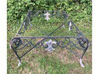Vintage Heavy Cast Metal Garden or Interior Low Bistro / Coffee Table Project