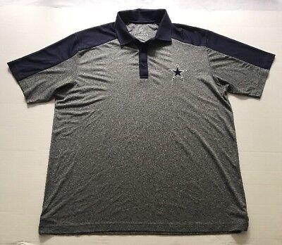 Dallas Cowboys NFL Authentic Apparel Short Sleeve Polo Golf Shirt Adult XLG