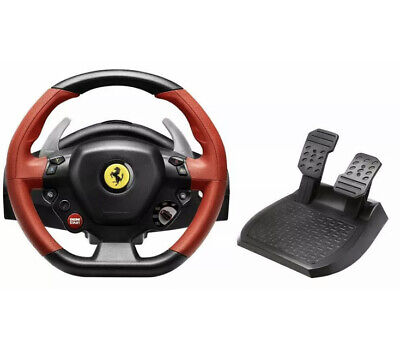 Thrustmaster Ferrari 458 Spider Racing Wheel & Pedals for Xbox One NEW