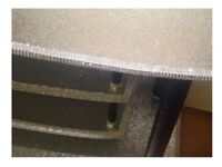 COLLECT WOLVERHAMPTON Bling TV Television Unit Stand Table Silver Black Glitter Sparkle