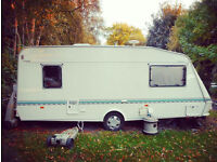 Elddis 1998 Cyclone 4 Berth Caravan with full size awning - complete set up