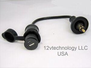 USB Charger Hella BMW Powerlet Plug Adapter Converter Socket Motorcycle 12V