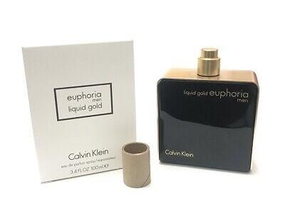 Euphoria Liquid Gold Calvin Klein Men 3.4 oz 100 ml *Eau De Parfum* Spray (Liquid Gold Euphoria Men Calvin Klein For Men)