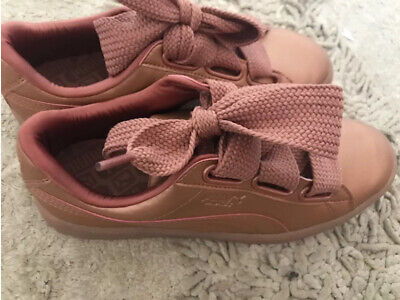 Puma Basket Heart  Rose Gold Trainers  Size 36/3.5