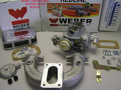 Weber conversion kit w/Electric choke Weber carb fits MG MGB 1962-1974
