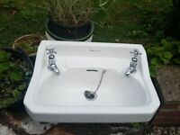 Vintage Sink / Garden Water Feature Trough/ Strawberry Planter