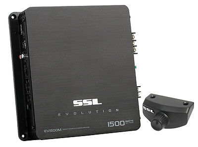 Soundstorm EV1500M 1500W Monoblock A/B MOSFET Car Audio Power Stereo Amplifier
