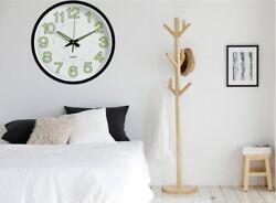 12''/30cm Round Numerals Illuminated Wall Neon Clock Sign LED Night Light Silent