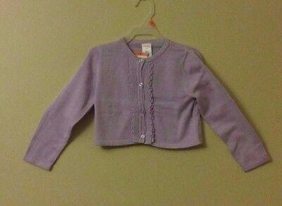 GYMBOREE Girls Lavendar Purple Button Down Sweater Cardigan NWT Size  3T