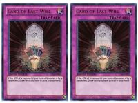 Yu-Gi-Oh! 2x (LC04- EN003) Card of Last Will (ULTRA Rare- LIMITED Edition) MINT