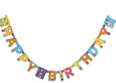 Peppa Pig Birthday Banner (PEPPA PIG HAPPY BIRTHDAY BANNER 7.58)
