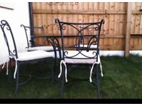 Garden table with 4chairs