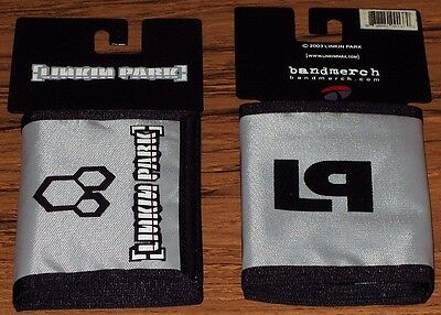 LINKIN PARK WALLET Nylon Gray/Silver Authentic Licensed NEW