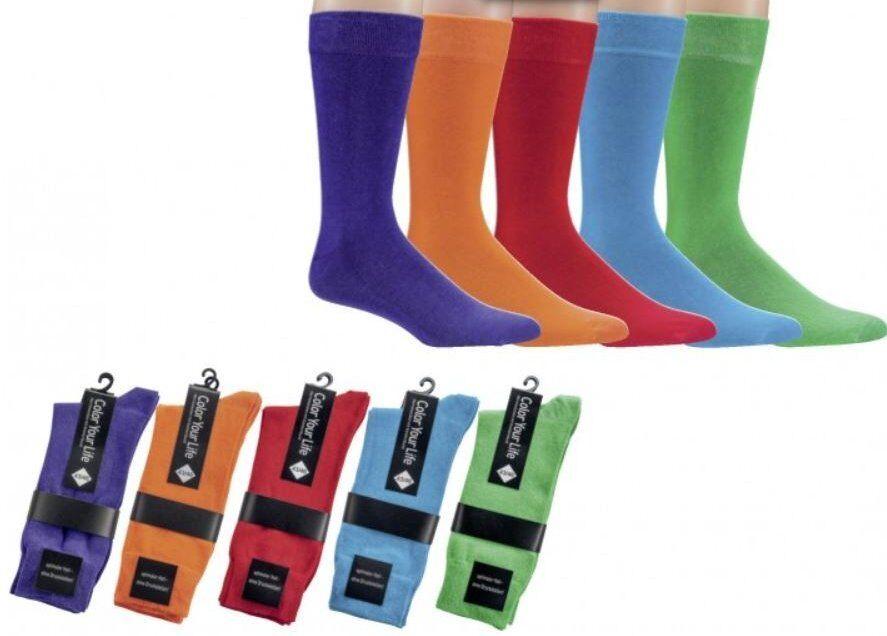 2-10 P. Herren Anzug Business Socken bunt Color Your Life ohne Gummi Größe 39-50