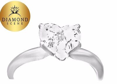 GIA CERTIFIED HEART SHAPE DIAMOND I COLOR VS1 CLARITY SOLITAIRE RING