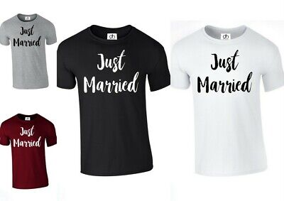 Just Married Mr Mrs Hubby Wifey King Queen Tshirt  ( JUST MARRIED , T-SHIRT )