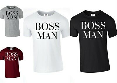 Boss Man Lady Matching Couple T-shirt Wifey King Queen GirlFriend (B.MAN,TSHIRT)
