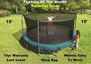 New Trampoline & Safety Net Enclosure Sale, 55. 7, 8, 12, 13, 14, 15, 17, 10 yr Warranty, Shipping Available