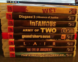 PS3 Games (8 games- can be purchased separately)