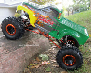 New 1/10 RC Rock Crawler Truck 4WD 4 Wheel Steering 1 Yr Warr.