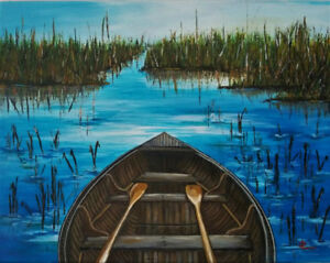 *Reed* 11 x 14 Acrylic Canvas Painting