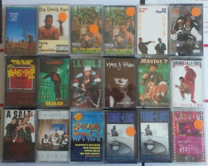 For sale is a lot of 18 Hip-Hop, Rap, and R&B Cassette Tapes