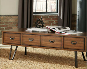 FLOOR MODEL BLOWOUT: Ashley Centair Coffee+ 2 End Tables