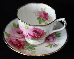 AMERICAN BEAUTY TEA CUP & SAUCER
