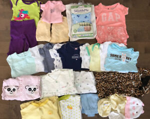 Baby girl 0-3month clothing, 25+items
