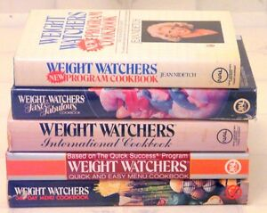 5 WEIGHTWATCHERS COOKBOOKS - AS NEW - 10.00 FOR ALL 5