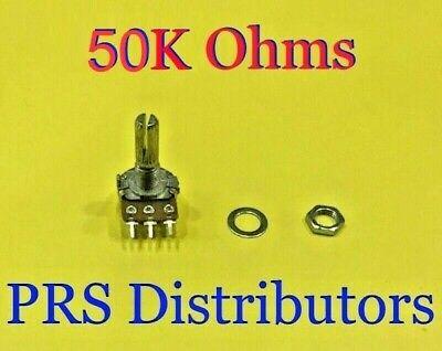 50k Ohms Linear Panel Mount Volume Control B50k Potentiometer 3 Terminals