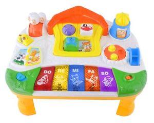 Spieltisch Musiktisch Instrumententisch Kinderzimmer Baby Motorik Kreativ #1311