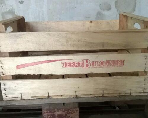 Cassetta frutta di legno vintage 51x31x27