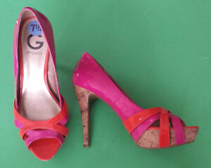 G By Guess High Heels Size 7.5 Pink/Orange