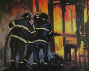 Firefighter prints form my original paintings.