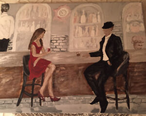 Unique acrylic and oil  paintings from the author