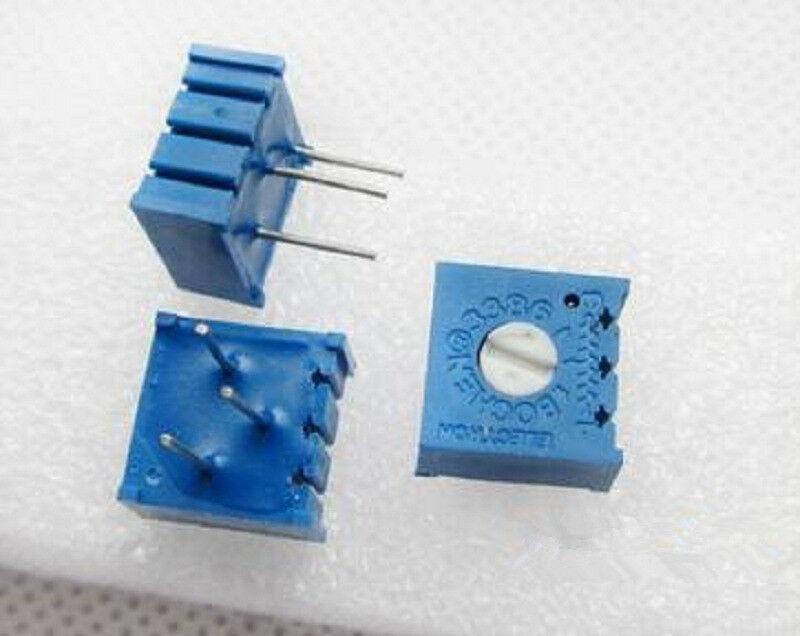 10pcs 3386P 202 2k ohm Potentiometer Precision Adjustable Multiturn Trimmer