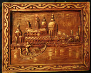 Wood Relief Carving of Venice