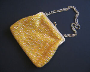 Vintage Du-Val Gold Beaded Evening Bag