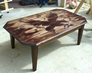 Torched Eagle Coffee Table