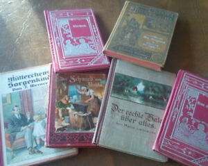 6 High German Fiction Hardcover Small Books, Get all 6 for $25.