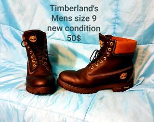 Pristine Timberlands mens sz 9  50$